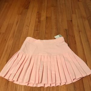 Pleated baby pink skirt